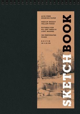 Sketchbook (Basic Medium Spiral Fliptop Landscape Black)
