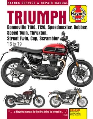 Triumph Bonneville T100, T120, Speedmaster, Bobber, Speed Twin, Thruxton, Street Twin, Cup & Scrambler 900 & 1200, '16-'19: Covers Models with Water-C