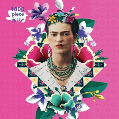 Adult Jigsaw Puzzle Frida Kahlo Pink: 1000-Piece Jigsaw Puzzles