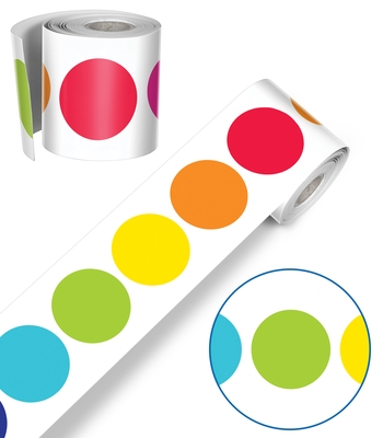 Twinkle Twinkle You're a Star! Rainbow Big Dots Rolled Straight Borders