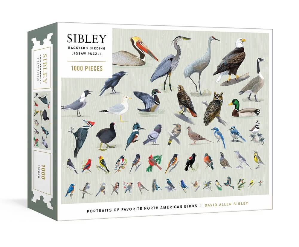 Sibley Backyard Birding Puzzle: 1000-Piece Jigsaw Puzzle with Portraits of Favorite North American Birds: Jigsaw Puzzles for Adults