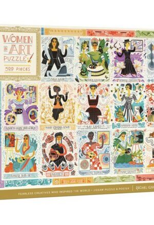 Women in Art Puzzle: Fearless Creatives Who Inspired the World 500-Piece Jigsaw Puzzle and Poster: Jigsaw Puzzles for Adults and Jigsaw Puz ( Women in Science )